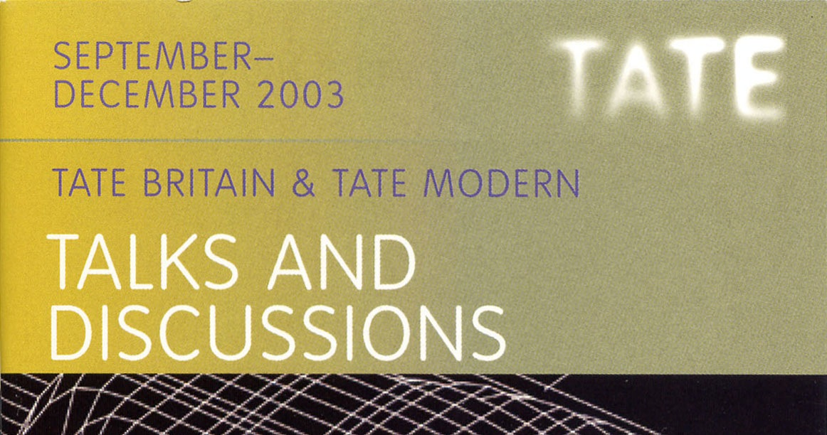 Tate Talk Book 2003