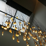 skylight with chandelier